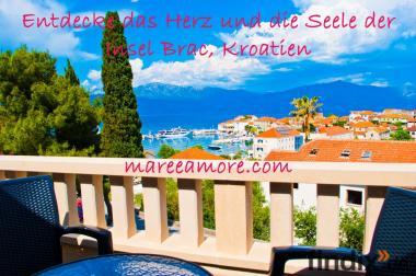 Neue FeWo, Ferienwohnung, Insel Brac, Kroatien, 100m bis zum Meer
