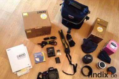 Nikon D600 SLR-Digitalkamera SET KIT (24,3 Megapixel)