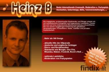 Alleinunterhalter Heinz B - Live Musiker für Hochzeit Geburtstag