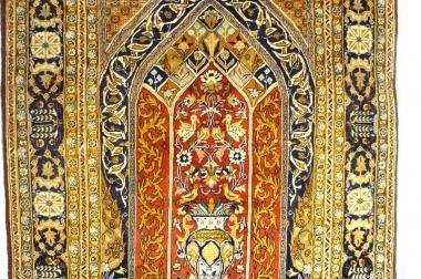Orientteppich Ghom Qom mit Seide (T036)
