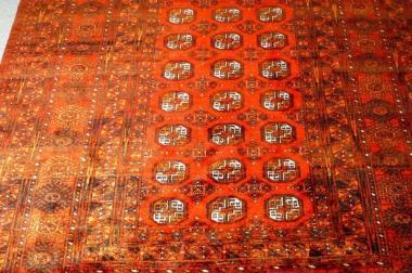 Orientteppich Turkmenistan alt 275x201 (T048)