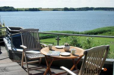Ostsee Schlei Ferienhaus Wohnung mit Wasser- Meer- Blick + Hund