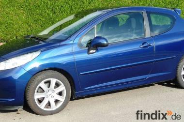Peugeot 207 1,6 HDI FAP Sport 84400km Limousine blau 3-Türer
