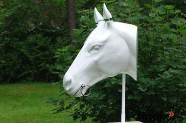 Pferdekopf in Weiss