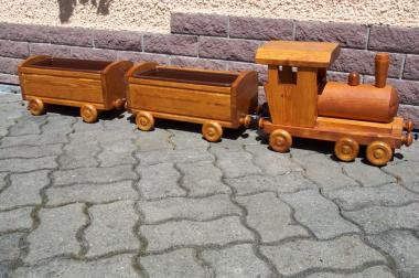 Pflanzeisenbahn - Pflanzzug - Holzzug