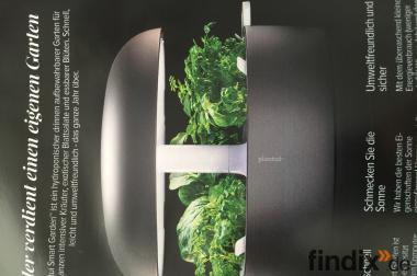 Plantui Smart Garden 6, Gewächshaus für die Küche, Farbe weiß