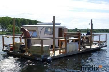 Pontonboot Anglerboot Motorboot Freizeitboot Partyboot Wohnwagen