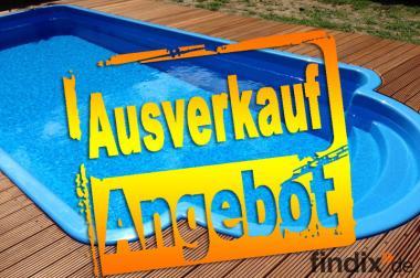Pool, Gfk Schwimmbecken 6,10x3,10x1,40, Einbaubecken im komplett
