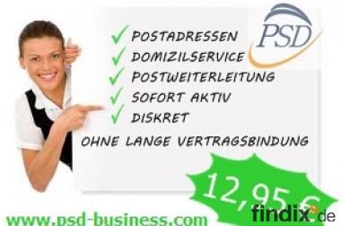 Postadressen inkl.Postweiterleitung 12,95 EUR bei PSD