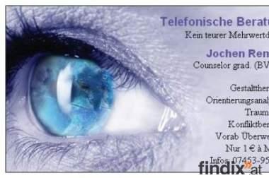 Psychologische Telefon-Beratung * Nur 1 € à Minute!