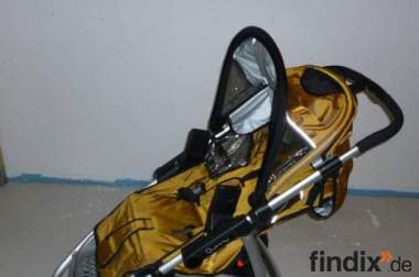 Quinny Speedy SX in Sonderfarbe Bronze mit Fußsack