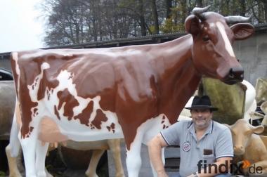 Red Holstein  - Friesian Deko Kuh lebensgross - Neues Modell
