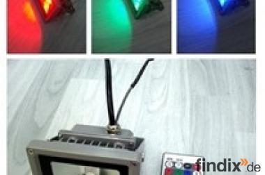 RGB - Fluter 230 Volt - 50 Watt mit IR-Fernbedienung - IP65