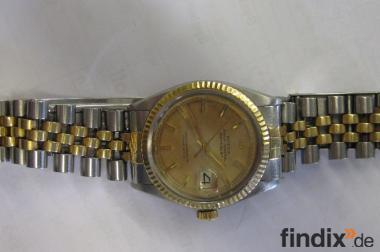 Rolex Date Just Herrenarmbanduhr Ref. 1601 Stahl/ Gold Bj. 1970