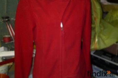 rote damen sportjacke fleece ist