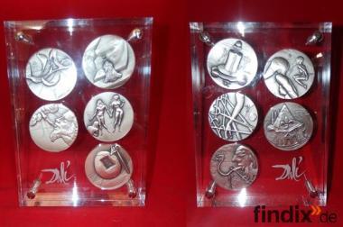 Salvador Dali 10 Gebote 999er Silber limitierte Silbermedaillen