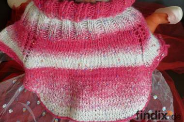 Schal-Kragen in Farbe-pink/grau