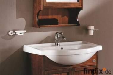 Schmales Badmöbel 75 cm mit Spiegelschrank