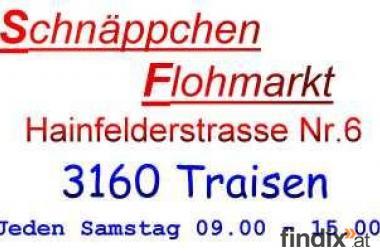 Schnäppchen - Flohmarkt   Jeden Samstag von 09.00 Uhr bis 15.00 U
