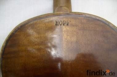 Schöne, alte Hopf-Geige in gutem Zustand zu verkaufen