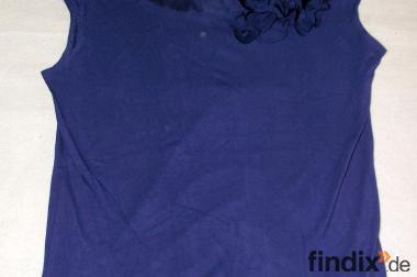 Schöne blaue, ärmellose H&M Bluse Gr. S