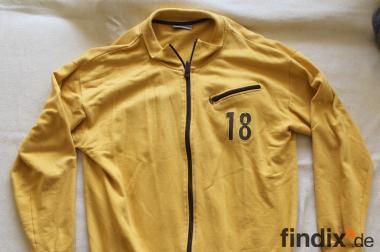Schöne gelb/braune Real Men Herren Sweatshirtjacke Gr.XL