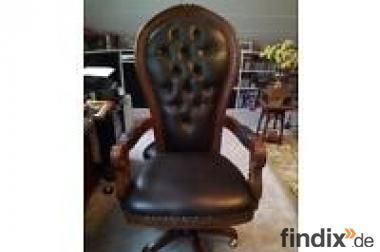 Schreibtisch Sessel Leder