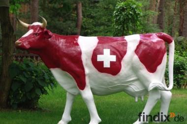 Schweizer Wappen Deko Kuh lebensgross