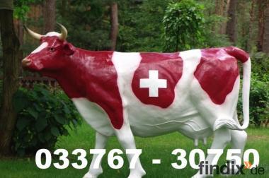Schweizer Wappen Deko Kuh lebensgross als Gartenfigur ...
