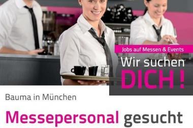 Servicejobs in München auf der Messe Bauma
