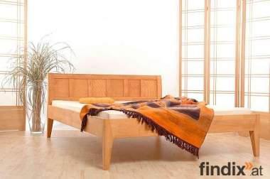SET: 160x200 Massivholz Bett + Matratze + Lattenrost - 1 Jahr alt