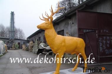 Sie möchten einen Deko Hirsch in Ihrer Wunsch Ral. Farbe ?