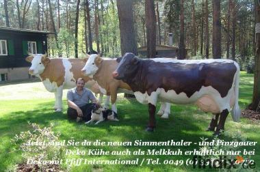 Sie suchen für Ihren Garten eine Deko Kuh lebensgross ...