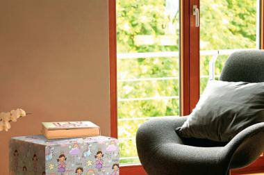 Sitzwürfel mit Holzgestell bedruckt mit eigenem Bild oder Logo