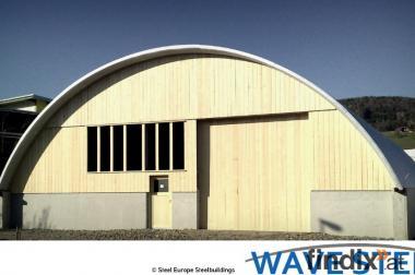 Stahlrundhallen für Lager, Büro, Garage, KFZ, Boot, Flugzeug,...