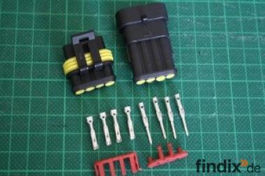 Steckverbinderset 4-polig aus Stecker & Kupplung - IP65