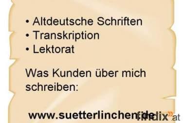 Sütterlin – Übertragung altdeutscher Handschriften