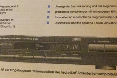 TechniSat CT 5000 DSR, Digital-CD-Radio mit Fernbedienung