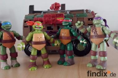 Teenage Mutant Ninja Turtles Figuren + Shell Raiser Vehicle