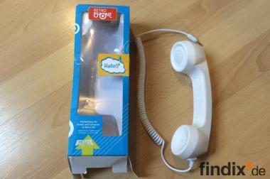 Telefonhörer für Handy und Computer.Retro Stil