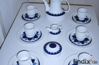 Thomas Kaffeeservice Arcta Kobalt blau 6 Personen 70er Jahre