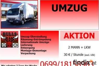Umzug nach Deutchland ab 25€  &  2 mann lkw std