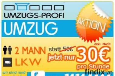 Umzugs-Profi.at - 2 Mann + LKW um 30€/h - Umzug, Kleintransport