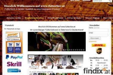 Unser neuer Futtertiershop ist online!