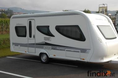 Verkaufe neuwertigen Wohnwagen Hobby La Vita bionda