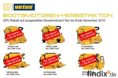 VETUS Herbstaktion - Bootsdiesel / Bootsmotor zu Sonderpreisen