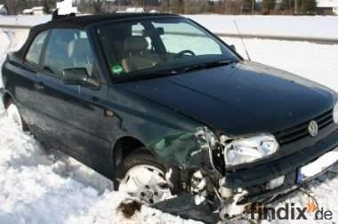 VW Golf 3 Cabrio- Unfallwagen