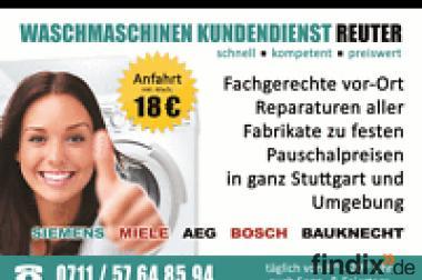 Waschmaschinenreparatur Kundendienst Stuttgart|Anfahrt & Kva 17,-
