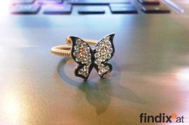 Weihnachtsgeschenk: Silber Ring Schmetterling