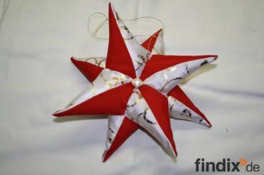 Weihnachtssterne aus Stoff im Patchworkstil - 20 cm